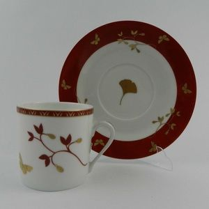 Philippe Deshoulieres Porcelain Espresso Set of 6.